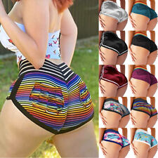 Women High Waist Yoga Shorts Sports Fitness Butt Lift Joggings Gym Hot Pants US