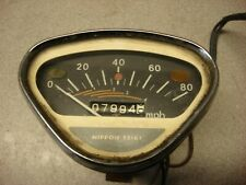 HONDA SL 90 1969 80 MPH SPEEDOMETER GAUGE NIPPON SEIKI  OEM PART # 37200-074-670