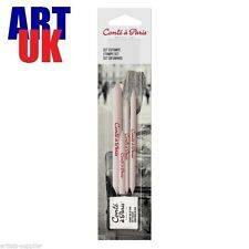 Conte a Paris Stump Set - Tortilion, Blenders and Soft Eraser / Putty Rubber