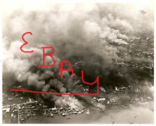 WWII 8X10 AERIAL PHOTOGRAPH OF THE INVASION AT LEYTE GULF IN THE PHILIPPINES