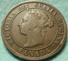 1897 XF CANADA LARGE CENT Victoria COIN No-Res CANADIAN