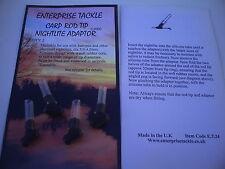 Enterprise Carp Rod Tip Nightlite Adaptors. Set of Four.