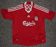 Liverpool FC / 2008-2010 Home - ADIDAS - JUNIOR Shirt / Jersey. 10y / 140 cm