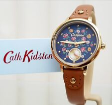 New CATH KIDSTON Watch Tan Leather Oxford Rose IDEAL GIFT for Her ! RRP£79 ! (c4