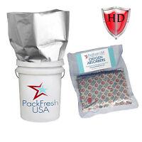 "PackFreshUSA: 5 pack - 5.5 Mil - Five Gallon Heavy Duty Mylar Bags (19"" x 28"")"