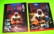Sega HOUSE OF THE DEAD 1996 Set Of 2 NOS Video Arcade Game Flyers Horror Zombies