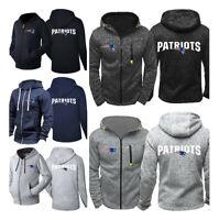 New England Patriots Hoodie Fleece Hooded Sweatshirt Sports Jacket Gift For Fans
