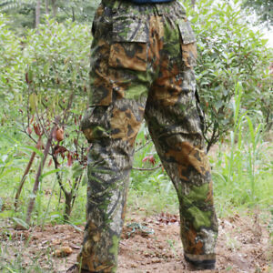 Hunting Tactical woodland camouflage pants trousers f Spring Summer Green Leaves