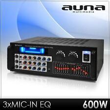 Mikrofon PA Verstärker Endstufe 2 Zonen 7 Band Equalizer Karaoke Amplifier 600W