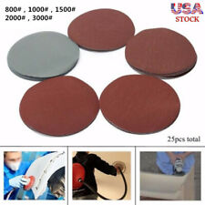 25X Hook And Loop 5Inch 800#1000#1500#2000#3000 Grit Sand Paper Sanding Discs TO