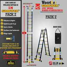 ESCABEAU TELESCOPIQUE WOERTHER 5M PACK 2 (ESCABEAU + HOUSSE DE TRANSPORT)