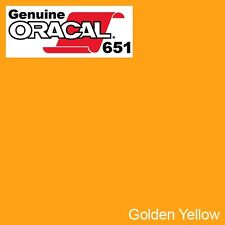 """ORACAL 651 Golden Yellow Gloss Vinyl Wrap Film 12"""" x 10ft Solvent-Based Adhesive"""