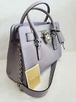 NEW Michael Kors LEATHER Hamilton EW Lilac EW Crossbody Purse Bag Saffiano $298