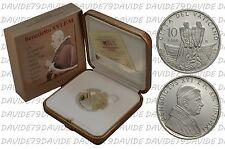 VATICANO - BENEDETTO XVI - 10 EURO ARGENTO 2011 - LX ORDINAZIONE SACERDOTALE