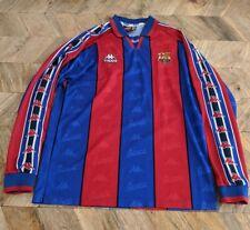 "Barcelona 1995/97 Original Kappa Camiseta de fútbol de manga larga Camiseta 44"""