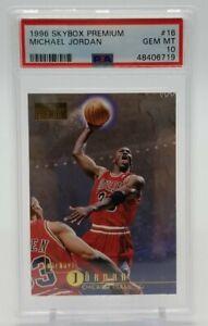 1996-97 Skybox Premium MICHAEL JORDAN PSA 10 Gem Mint #16 Chicago Bulls 48406719