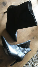 Contra Leather Black Boots Size 5 NEW!!!