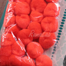 25 pom pom 25 mm ponpon arancio SCRAPBOOKING DECORAZIONI applicazioni BOMBONIERE