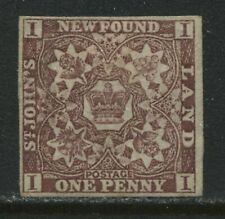 Newfoundland 1861 1d violet brown unused no gum