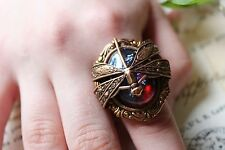 Opal Ring Dragonfly Fire
