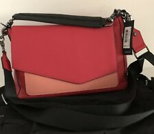 Botkier New York Cobble Hill Slouch Leather Hobo 18H2050 Red Colorblock $278 NWT