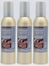 3 Yankee Candle WARM LUXE CASHMERE Concentrated Mini Room Spray Perfume 1.5 oz