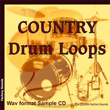 "Country Drum Loops -Wav format Sample Cd ""High-quality Acoustic Grooves"""