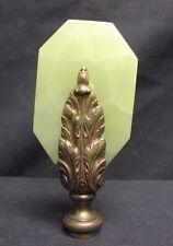 "Large Antique Vintage Chinese Jade Serpentine Fancy Lamp Finial Hardstone 4.75"""