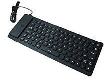 New foldable Flexible Roll up  rubber Bluetooth Computer PC Keyboard  rrp £32