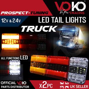 NEW TRUCK LED 12V 24V Rear Tail Lights Brake Indicator Reflectors LAMPS VKZI13