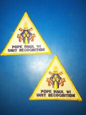 Lot of 2 Boy Scouts of America 'Pope Paul VI Unit Recognition' Patches