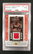 2007-08 Upper Deck Game JERSEY PSA Graded 9 #GJ-JM Michael Jordan Chicago Bulls