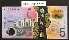 2016 Australia new $5 bank note - serial numbers will vary to picture shown