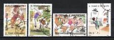 JO été St Thomas et prince (23) série complète de 4 timbres oblitérés