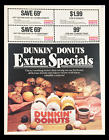 1984 Dunkin Donuts Extra Special Circular Coupon Advertisement