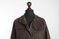 Genuine BARBOUR Ladies Utility Jacket Waxed Cotton Brown Size UK 10