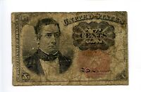 Fifth 5th Issue 10C 10 Ten Cent Fractional Currency Red Seal Holes1874 AA0938