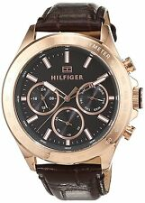 Tommy Hilfiger Original 1791225 Men's Hudson Brown Patent Leather Watch 44mm