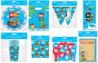 Childrens Birthday Party Tableware Invites Balloons Pirate Skull Decoration Boys