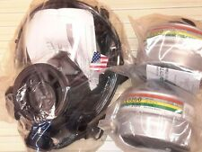 SGE 400/3 Gas Mask 2018mfg & (2) NBC Military-Grade Filters ALL NEW, Exp 12/2022
