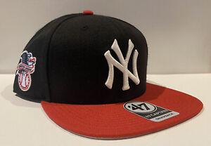 47' Brand New York Yankees Sure Shot Two Tone Captain Snapback Hat Cap Blue Red