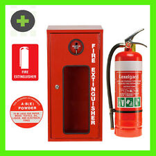 x2 Fire Extinguisher 4.5kg ABE  and  x2 Lockable Cabinets