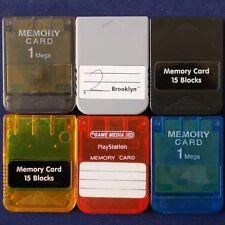 PS1 Playstation ► Memory Card 15 Bloc ◄ Carte mémoire