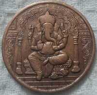 1616 lord ganesha east india company uk one anna rare big copper coin