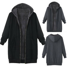 Plus Size Womens Winter Warm Outwear Hooded Overcoat Coats Cardigan Plush Jacket