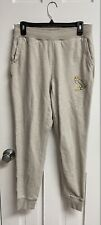 October's Very Own OVO Tan Beige Sweatpants Joggers Gold Owl Logo Men's Size S