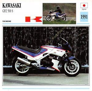 Fiche Photo Moto Japon Japan KAWASAKI GPZ 500 S 1991 Edit Edito Service
