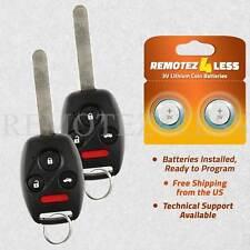 for 2003 2004 2005 2006 2007 Honda Accord Keyless Remote Car Entry Key Fob Pair