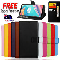 For OnePlus 5 5T Leather Flip Wallet Card Pocket Case Cover for One Plus 1+ 5 5T