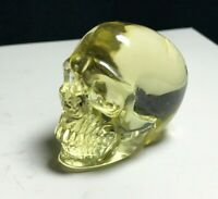 Citrine Quartz Natural Crystal Skull Carved Realistic Reiki Healing  k080412